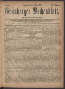 Grünberger Wochenblatt: Zeitung für Stadt und Land, No. 32. (13. März 1880)