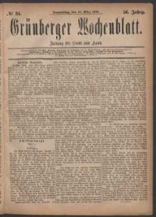 Grünberger Wochenblatt: Zeitung für Stadt und Land, No. 34. (18. März 1880)