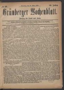 Grünberger Wochenblatt: Zeitung für Stadt und Land, No. 36. (23. März 1880)
