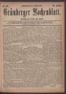 Grünberger Wochenblatt: Zeitung für Stadt und Land, No. 46. (17. April 1880)
