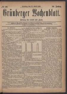 Grünberger Wochenblatt: Zeitung für Stadt und Land, No. 50. (27. April 1880)