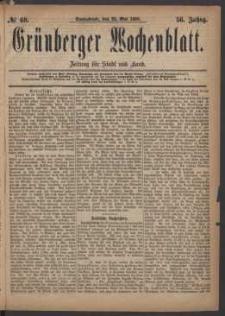 Grünberger Wochenblatt: Zeitung für Stadt und Land, No. 60. (22. Mai 1880)