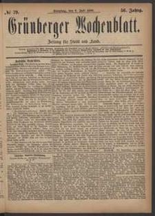 Grünberger Wochenblatt: Zeitung für Stadt und Land, No. 79. (6. Juli 1880)