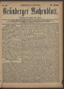 Grünberger Wochenblatt: Zeitung für Stadt und Land, No. 81. (10. Juli 1880)