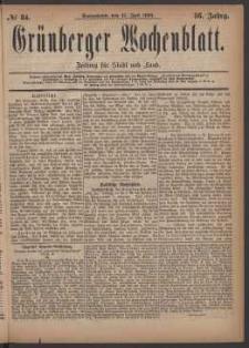 Grünberger Wochenblatt: Zeitung für Stadt und Land, No. 84. (17. Juli 1880)