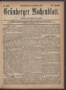 Grünberger Wochenblatt: Zeitung für Stadt und Land, No. 104. (2. September 1880)