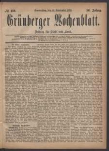 Grünberger Wochenblatt: Zeitung für Stadt und Land, No. 110. (16. September 1880)