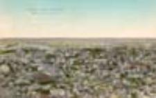 Gubin / Guben in der Baumblüte; Blick vom Bismarck-Turm