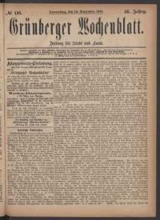 Grünberger Wochenblatt: Zeitung für Stadt und Land, No. 116. (30. September 1880)