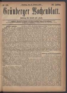 Grünberger Wochenblatt: Zeitung für Stadt und Land, No. 121. (12. Oktober 1880)
