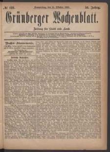 Grünberger Wochenblatt: Zeitung für Stadt und Land, No. 122. (14. Oktober 1880)