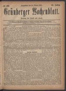 Grünberger Wochenblatt: Zeitung für Stadt und Land, No. 126. (23. Oktober 1880)