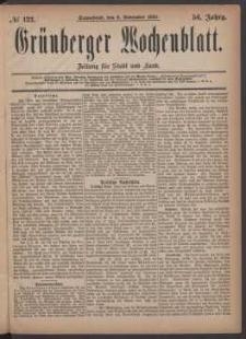 Grünberger Wochenblatt: Zeitung für Stadt und Land, No. 132. (6. November 1880)