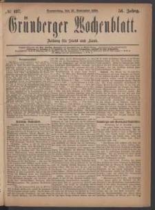 Grünberger Wochenblatt: Zeitung für Stadt und Land, No. 137. (18. November 1880)