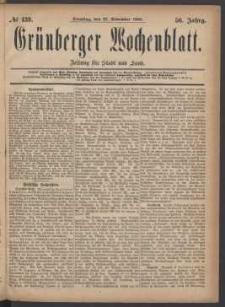 Grünberger Wochenblatt: Zeitung für Stadt und Land, No. 139. (23. November 1880)