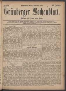 Grünberger Wochenblatt: Zeitung für Stadt und Land, No. 141. (27. November 1880)