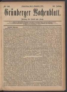 Grünberger Wochenblatt: Zeitung für Stadt und Land, No. 146. (9. Dezember 1880)