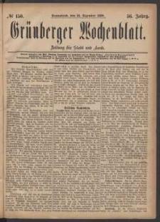Grünberger Wochenblatt: Zeitung für Stadt und Land, No. 150. (18. Dezember 1880)