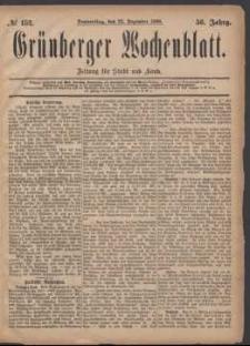 Grünberger Wochenblatt: Zeitung für Stadt und Land, No. 152. (23. Dezember 1880)