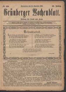 Grünberger Wochenblatt: Zeitung für Stadt und Land, No. 153. (25. Dezember 1880)