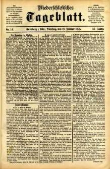 Niederschlesisches Tageblatt, no 14 (Grünberg i. Schl., Dienstag, den 18. Januar 1898)