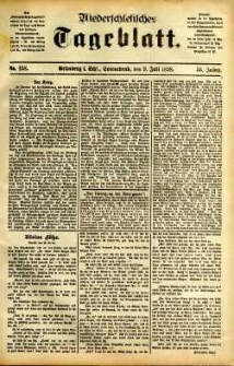 Niederschlesisches Tageblatt, no 158 (Grünberg i. Schl., Sonnabend, den 9. Juli 1898)