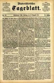 Niederschlesisches Tageblatt, no 187 (Grünberg i. Schl., Freitag, den 12. August 1898)