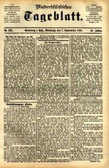 Niederschlesisches Tageblatt, no 209 (Grünberg i. Schl., Mittwoch, den 7. September 1898)
