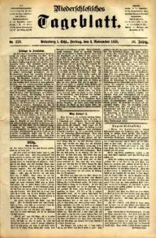 Niederschlesisches Tageblatt, no 259 (Grünberg i. Schl., Freitag, den 4. November 1898)