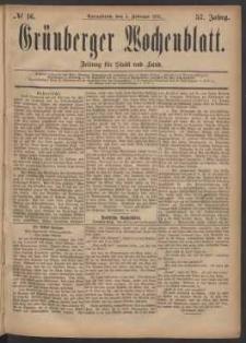 Grünberger Wochenblatt: Zeitung für Stadt und Land, No. 16. (5. Februar 1881)