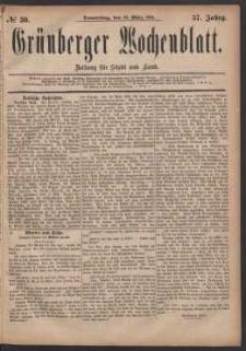 Grünberger Wochenblatt: Zeitung für Stadt und Land, No. 30. (10. März 1881)