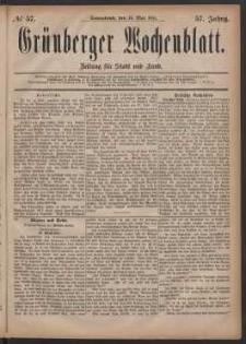 Grünberger Wochenblatt: Zeitung für Stadt und Land, No. 57. (14. Mai 1881)
