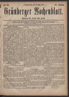 Grünberger Wochenblatt: Zeitung für Stadt und Land, No. 59. (19. Mai 1881)