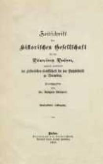 Zeitschrift der Historischen Gesellschaft für die Provinz Posen, zugleich Zeitschrift der Historischen Gesellschaft für den Netzedistrikt zu Bromberg, Jg. 15 (1900)