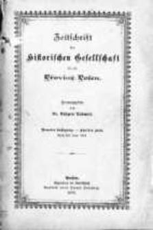Zeitschrift der Historischen Gesellschaft für die Provinz Posen, Jg. 9 H. 1-2 (1894), H. 3/4 (1895)