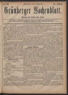 Grünberger Wochenblatt: Zeitung für Stadt und Land, No. 68. (11. Juni 1881)