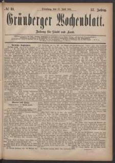 Grünberger Wochenblatt: Zeitung für Stadt und Land, No. 81. (12. Juli 1881)