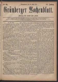 Grünberger Wochenblatt: Zeitung für Stadt und Land, No. 83. (16. Juli 1881)