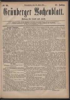 Grünberger Wochenblatt: Zeitung für Stadt und Land, No. 86. (23. Juli 1881)