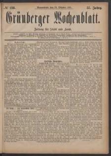 Grünberger Wochenblatt: Zeitung für Stadt und Land, No. 128. (29. Oktober 1881)