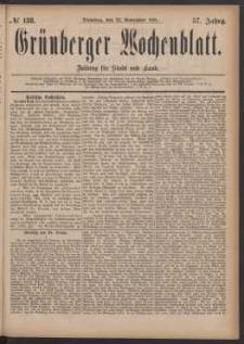 Grünberger Wochenblatt: Zeitung für Stadt und Land, No. 138. (22. November 1881)