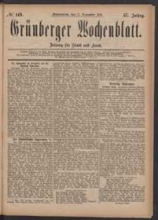 Grünberger Wochenblatt: Zeitung für Stadt und Land, No. 149. (17. December 1881)