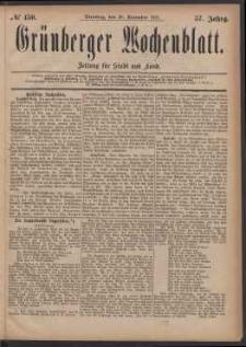 Grünberger Wochenblatt: Zeitung für Stadt und Land, No. 150. (20. December 1881)