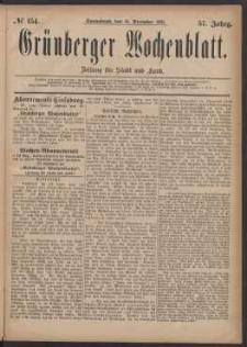 Grünberger Wochenblatt: Zeitung für Stadt und Land, No. 154. (31. December 1881)