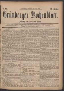 Grünberger Wochenblatt: Zeitung für Stadt und Land, No. 10. (24. Januar 1882)