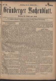 Grünberger Wochenblatt: Zeitung für Stadt und Land, No. 13. (31. Januar 1882)