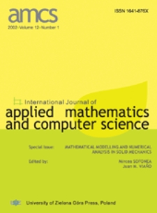 International Journal of Applied Mathematics and Computer Science (AMCS) 2002 Volume 12 Number 1