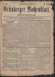 Grünberger Wochenblatt: Zeitung für Stadt und Land, No. 30. (11. März 1882)