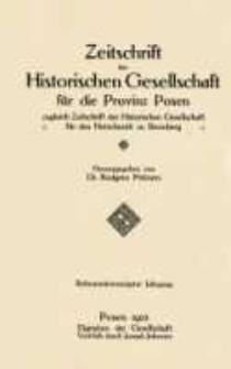 Zeitschrift der Historischen Gesellschaft für die Provinz Posen, zugleich Zeitschrift der Historischen Gesellschaft für den Netzedistrikt zu Bromberg, Jg. 27 (1912)