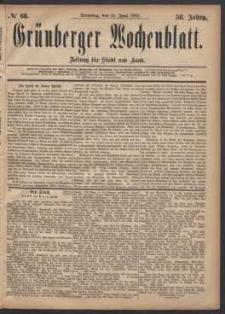 Grünberger Wochenblatt: Zeitung für Stadt und Land, No. 68. (13. Juni 1882)